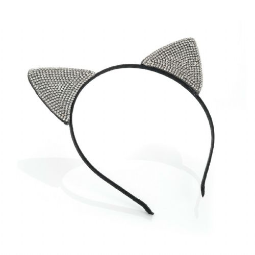 Acrylic Stone Black Cat Ears Alice Hair Band